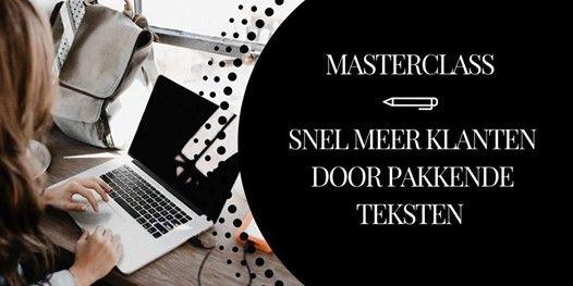 Masterclass Snel meer klanten door pakkende teksten