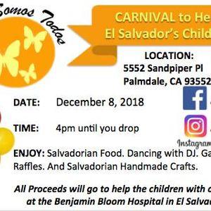 carnival to help el salvadors children at 5552 sandpiper pl