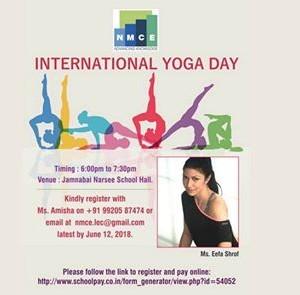 International Yoga Day with Eefa Shrof