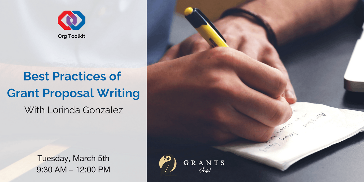 Org Toolkit Best Practices of Grant Proposal Writing