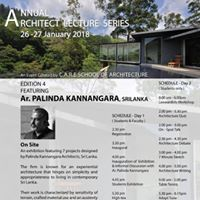 Annual Architect Lecture Series 2018