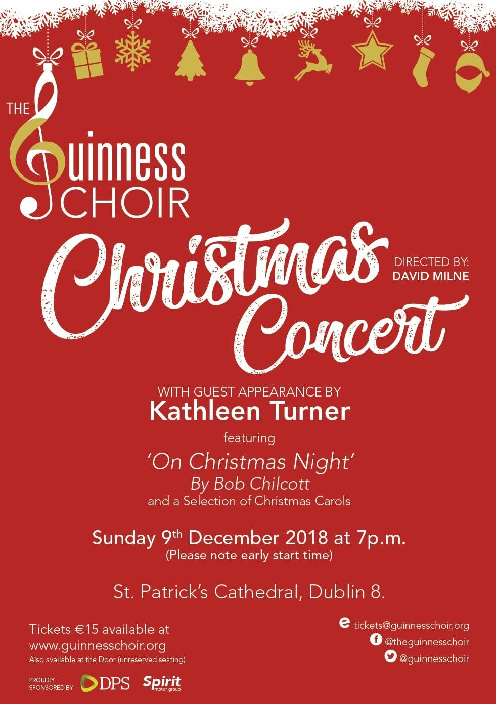 Guinness Choir Christmas Concert with Special Guest Kathleen Turner