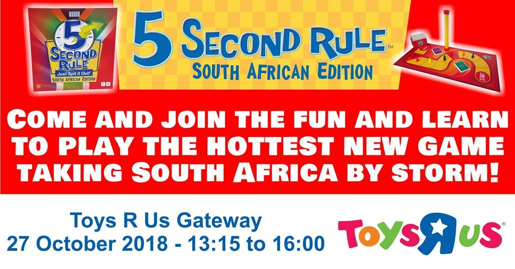 5 Second Rule Gaming Session At Toys R Us Gateway Durban