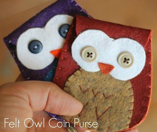 Felt Owl Coin Purse