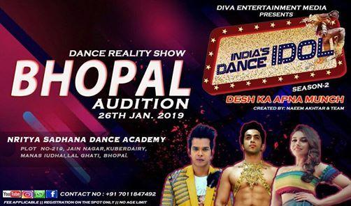 Indias Dance Idol Season 2 TV Reality Show Bhopal Audition 2019