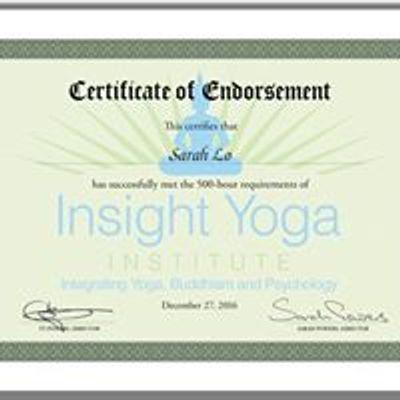 Sarah Lo Yin Yoga, Insight & Self Development