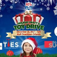 NFL Alumni Central FL Holiday Party &amp Toy Drive