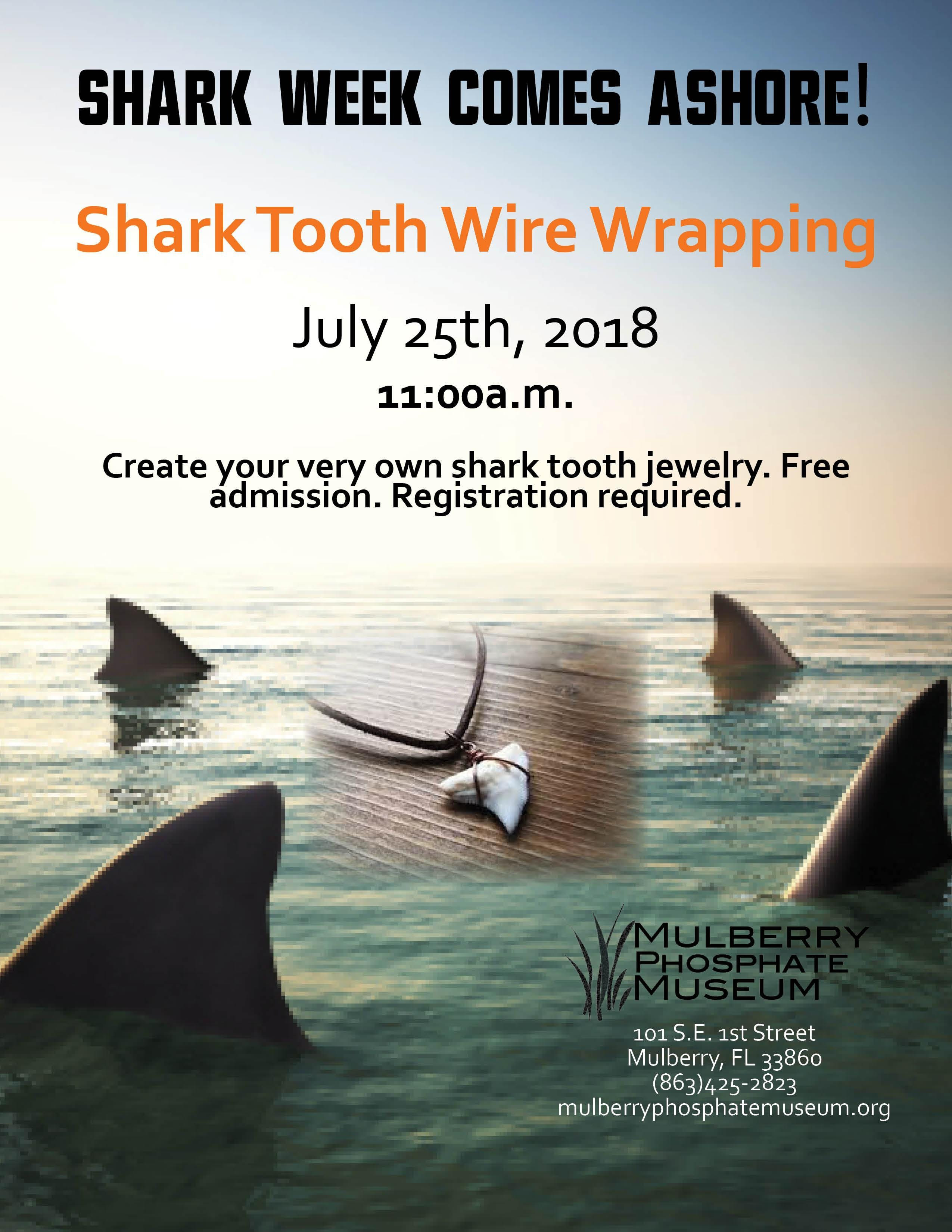 Shark Tooth Wire Wrapping at Phosphate Museum, Mulberry