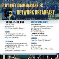 Old Carey Football Club Network Breakfast