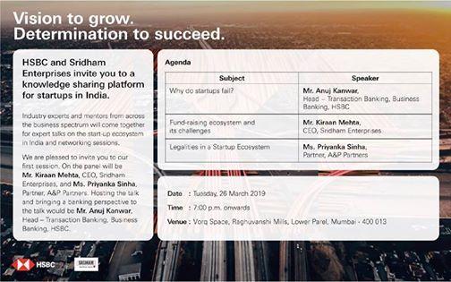HSBC x Sridham Knowledge Sharing Sessions at Vorq Space, Mumbai