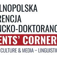 IV Oglnopolska konferencja naukowa pt. Students Corner 2018
