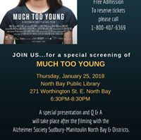 A special Screening of the film Much Too Young