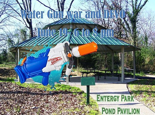 Water Gun War and DEVO at Entergy Park, Hot Springs National