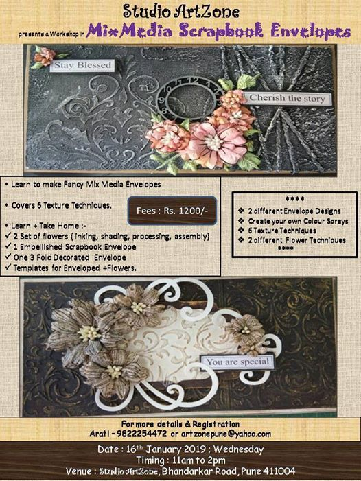 Mix Media Scrapbook Envelopes