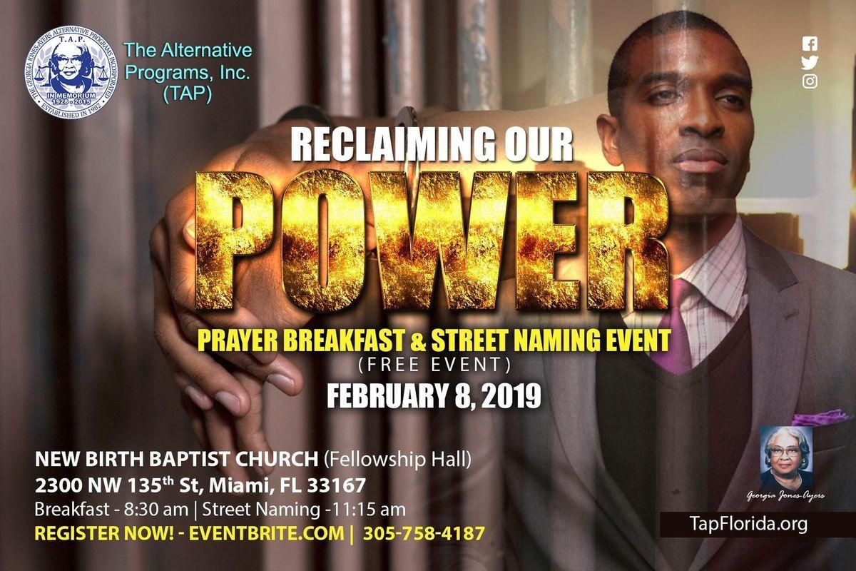 Reclaiming Our Power Prayer Breakfast & Street Naming Ceremony