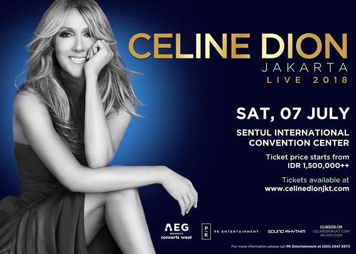 Celine Dion Live 2018 in Jakarta