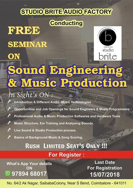 brite sound eng at Studio brite AUDIO factory, Coimbatore