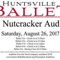 Nutcracker Auditions 2017