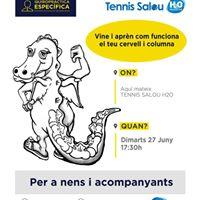Charla Quiropractica para nens en Tennis Salou H2o