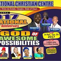 GLORY LAND 2017 GLOBAL CONVENTION. GOD OF AWESOME POSSIBILITIES