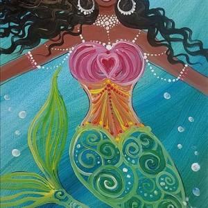 Mt Laurel Mermaid Night At Painting With A Twist Mount Laurel Nj