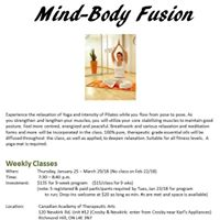 Mind-Body Fusion Weekly Classes