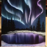 Northern Lights Painting Class