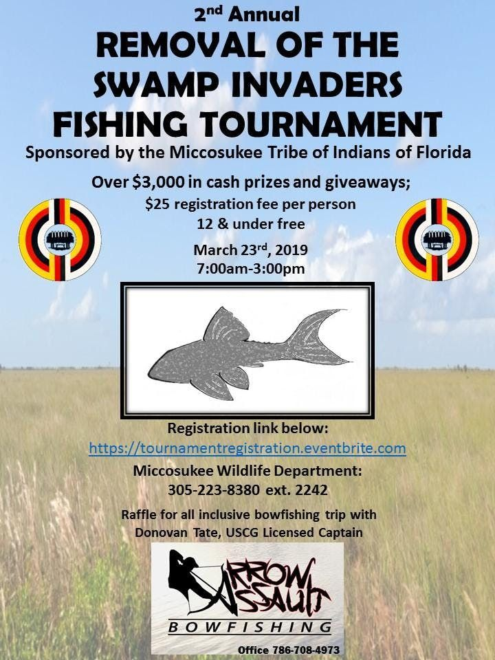 2nd Annual Removal of the Swamp Invaders Fishing Tournament