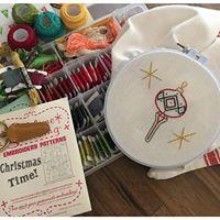 Holiday Embroidered Tea Towel Workshop