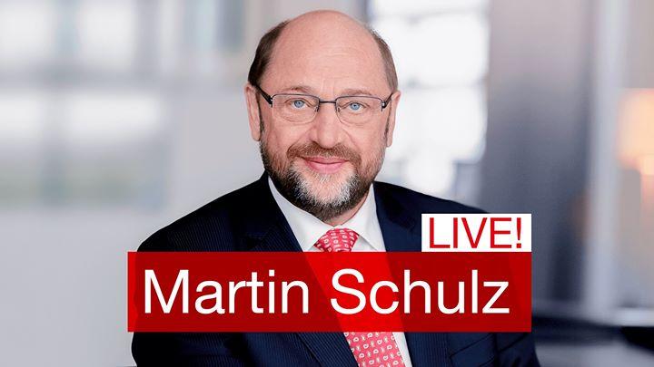 Martin Schulz In Darmstadt At Marktplatz