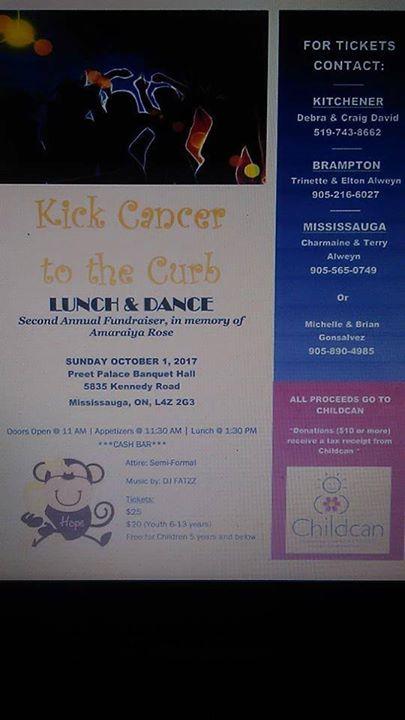 Kick Cancer to the Curb in memory of Amaraiya Rose