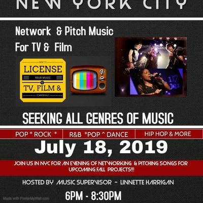 TV FILM SONG PITCH-A-THON & Networking Event  Big Summer N Y C