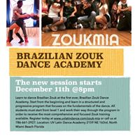 Brazilian Zouk Dance Classes Miami - New Session starts Dec. 11