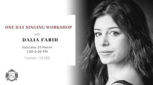 One day singing workshop with Dalia Farid