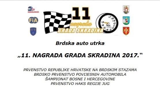 Brdska auto utrka 11. Nagrada Grada Skradina 2017.