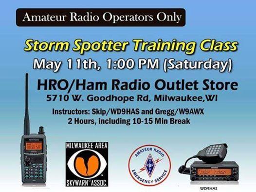 Storm Spotter Training at Ham Radio Outlet Milwaukee, Milwaukee