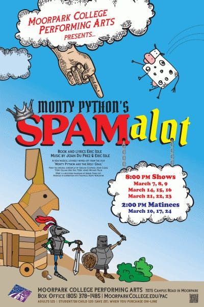 Spamalot Opening Night Dinner Play At Moorpark College Moorpark