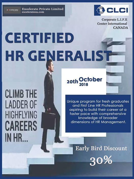 Certified HR Generalist (CHRG) program