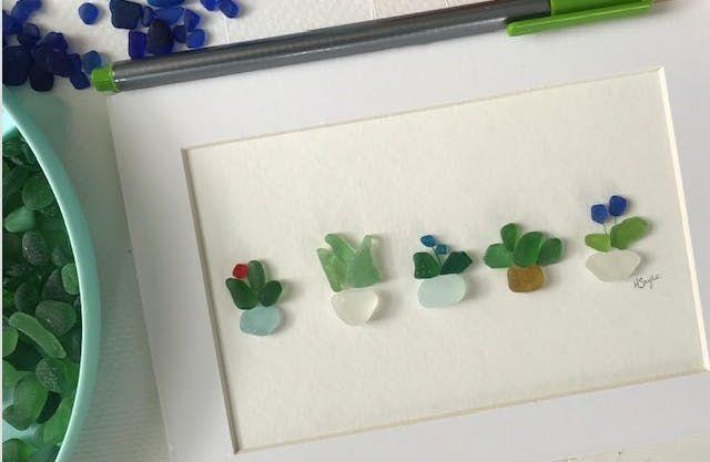 Sunday Morning Seaglass Art Workshop - Plants & Flowers