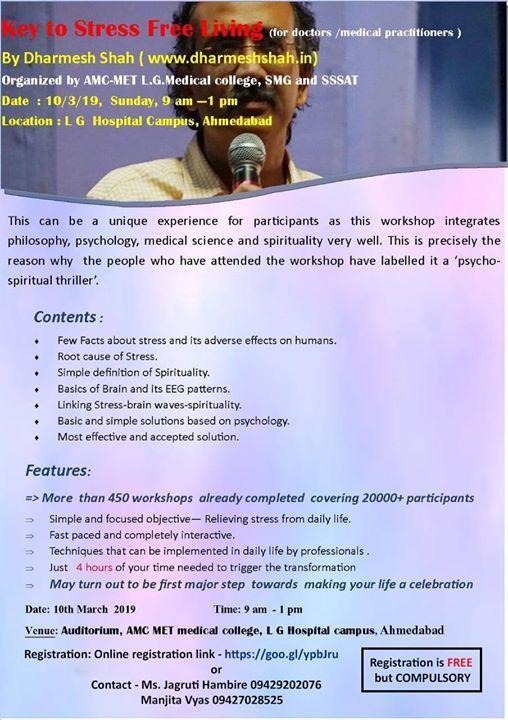 Key to Stress Free Living Workshop