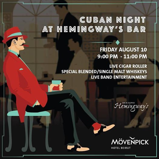 Cuban Night with live Cigar roller at Hemingways