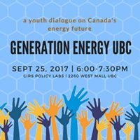 Generation Energy UBC A Youth Dialogue on Energy