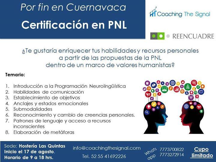 Certificacion PNL Cuernavaca at Hostería Las Quintas Hotel ...