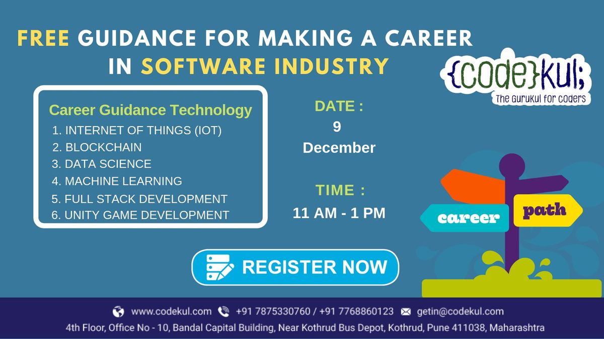 Free Guidance for making a career in Software Industry.
