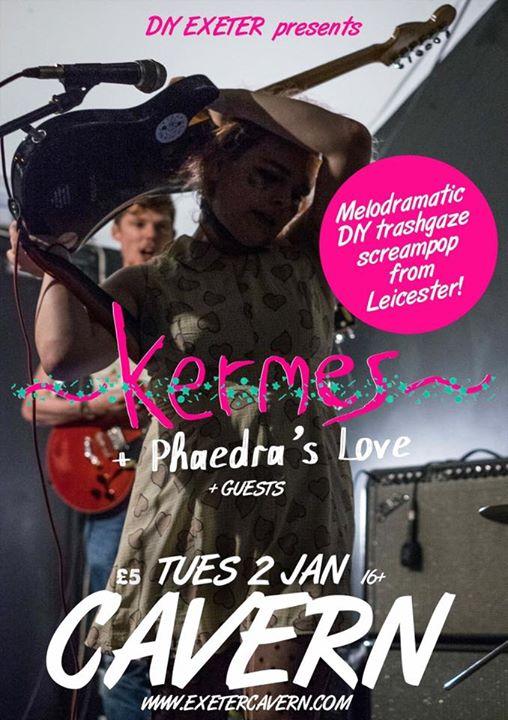 Kermes  Phaedras Love (full band) at Exeter Cavern  emo indie punk
