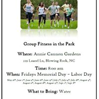 Group Fitness in the Park