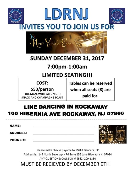 New Years Eve Party at Line Dancing in Rockaway NJ, Rockaway
