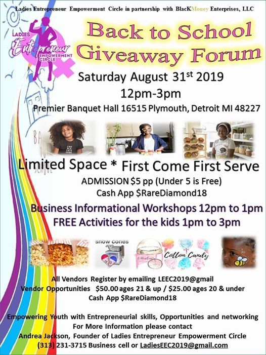 LEEC Youth All Girl Entrepreneur Back to School Giveaway at