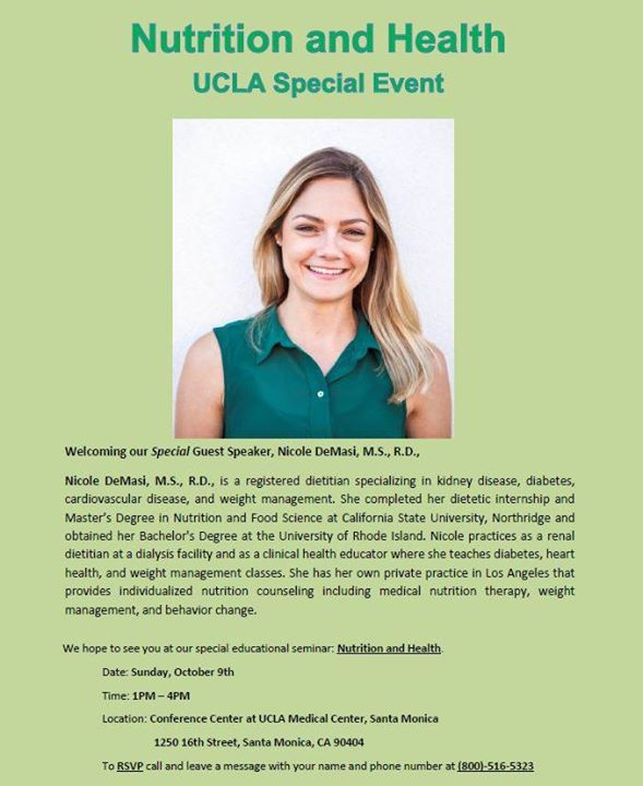 Nutrition and Health UCLA Event at Conference Center at UCLA