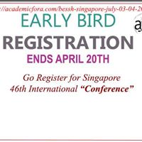 Singapore 46th International Conference on&quotBESSH-2018&quot